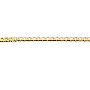 14kt. geslepen gourmet armband met karabijn veiligheidsslot