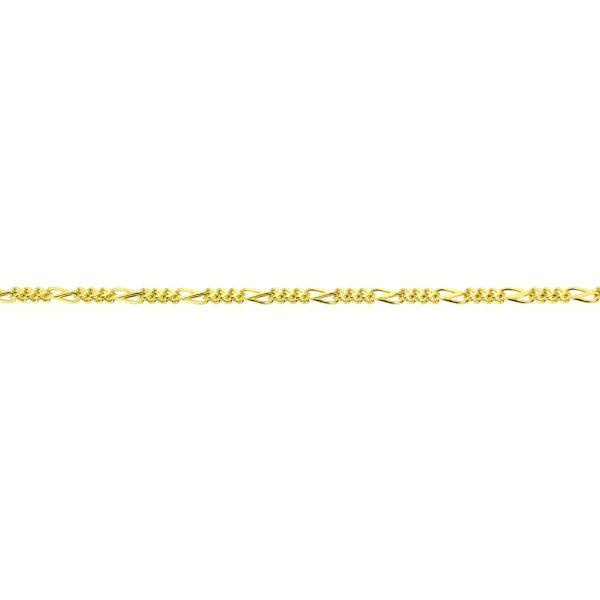 8kt. figaro armband met karabijnveiligheidsslot