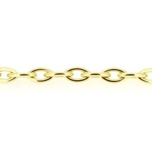 14kt. open schakel armband met karabijn veiligheidsslot