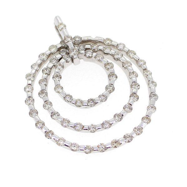 Wit gouden hanger van drie ringen