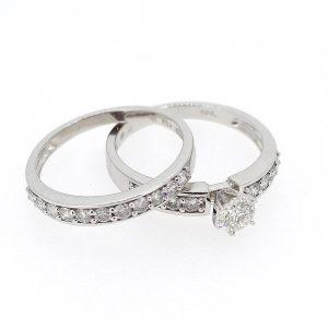 Wit gouden ringen met briljanten
