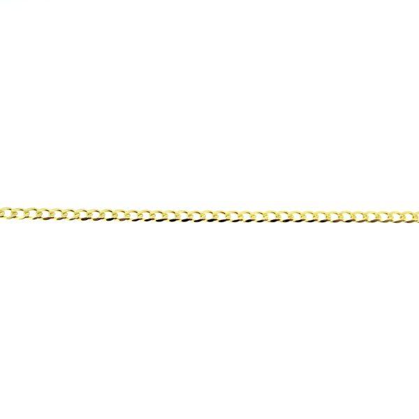 8kt. gediamanteerde armband 19x2
