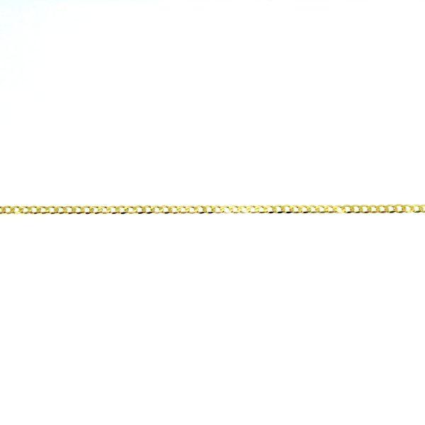 8kt. gediamanteerde armband 19x1