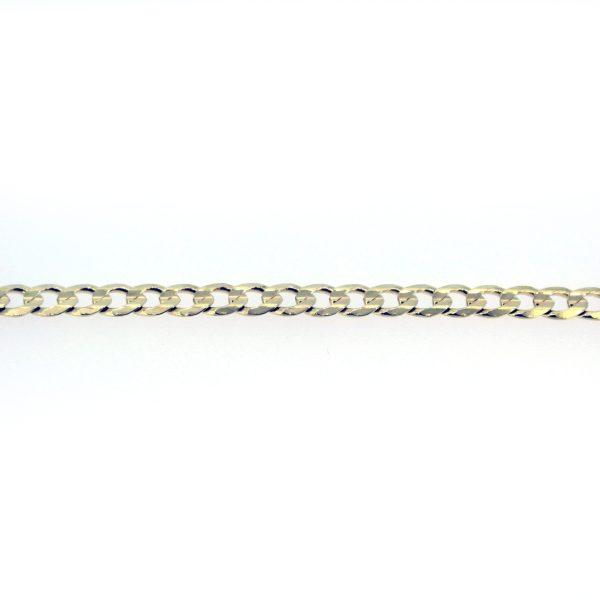8kt. gediamanteerde armband unisex