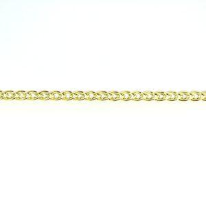 8kt. dubbel schakel armband
