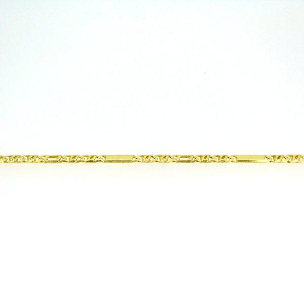 8kt. schakelarmband 19cm x 3mm