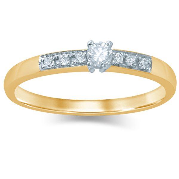 14krt. gouden ring met 0