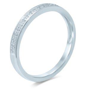 14krt.  gouden ring met echt diamant
