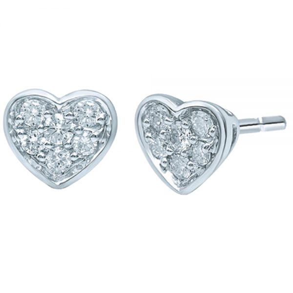 14krt. gouden oorknoppen met echt diamant