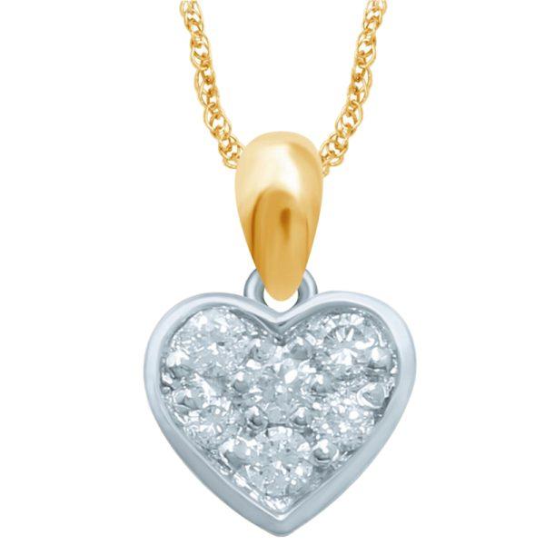 14krt. gouden hanger met echt diamant